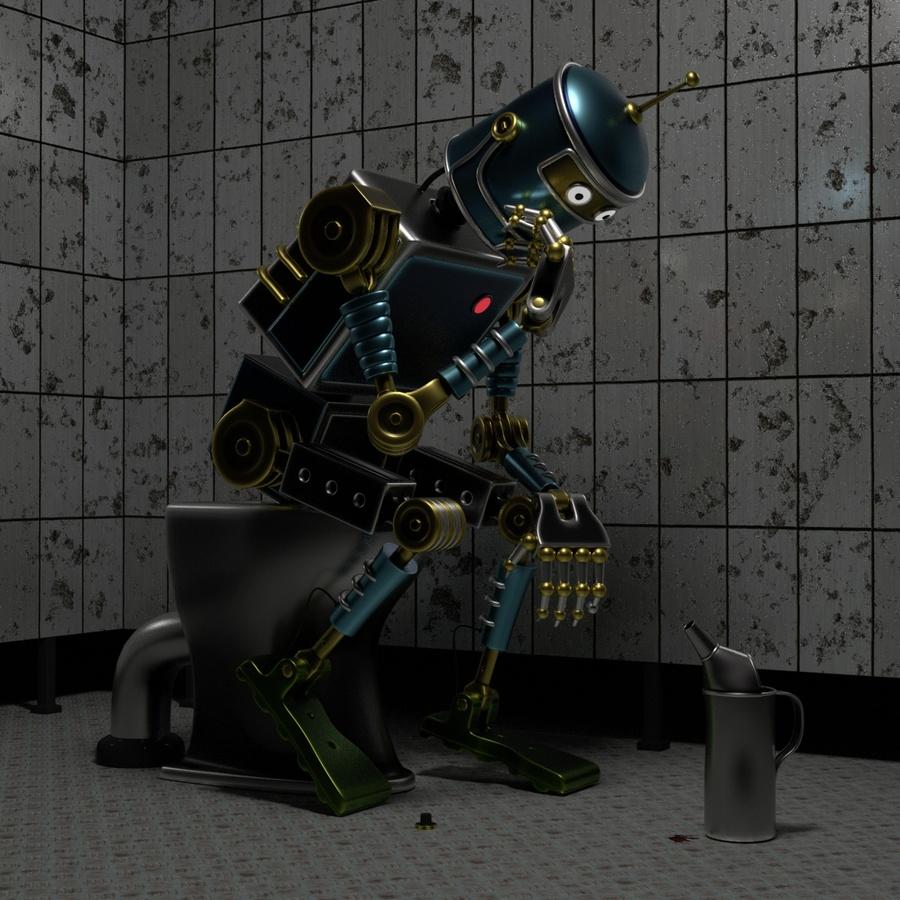 Auch Bots müssen mal......Hydrauliköl wechseln.