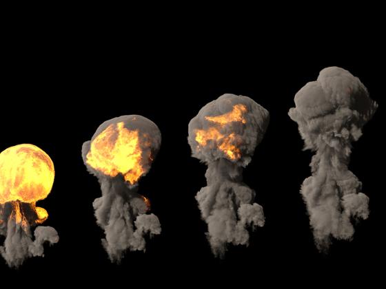 Stadien einer Explosion
