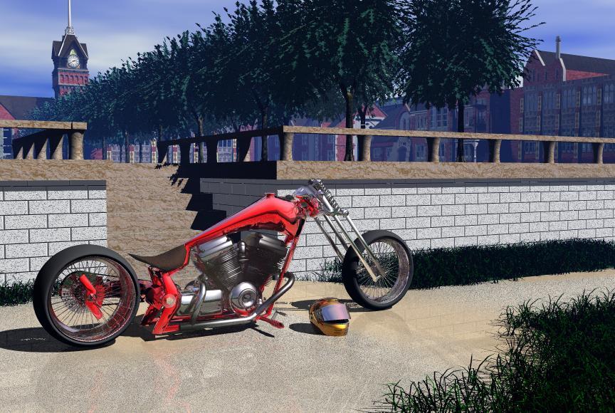 red revolution chopper scene