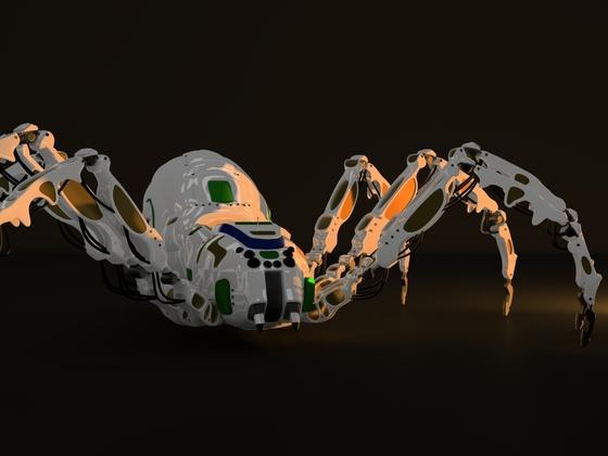 Spiderbot-Abschlussrender mit Cycles