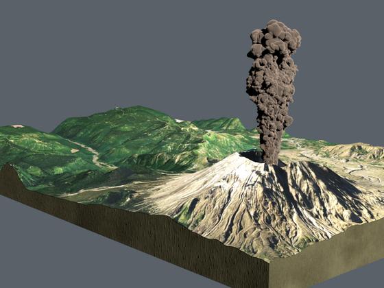 Vulkan-Diorama