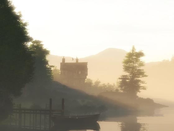 Don Websters Mühle im Morgennebel