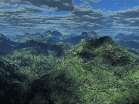 Alpine Berglandschaft