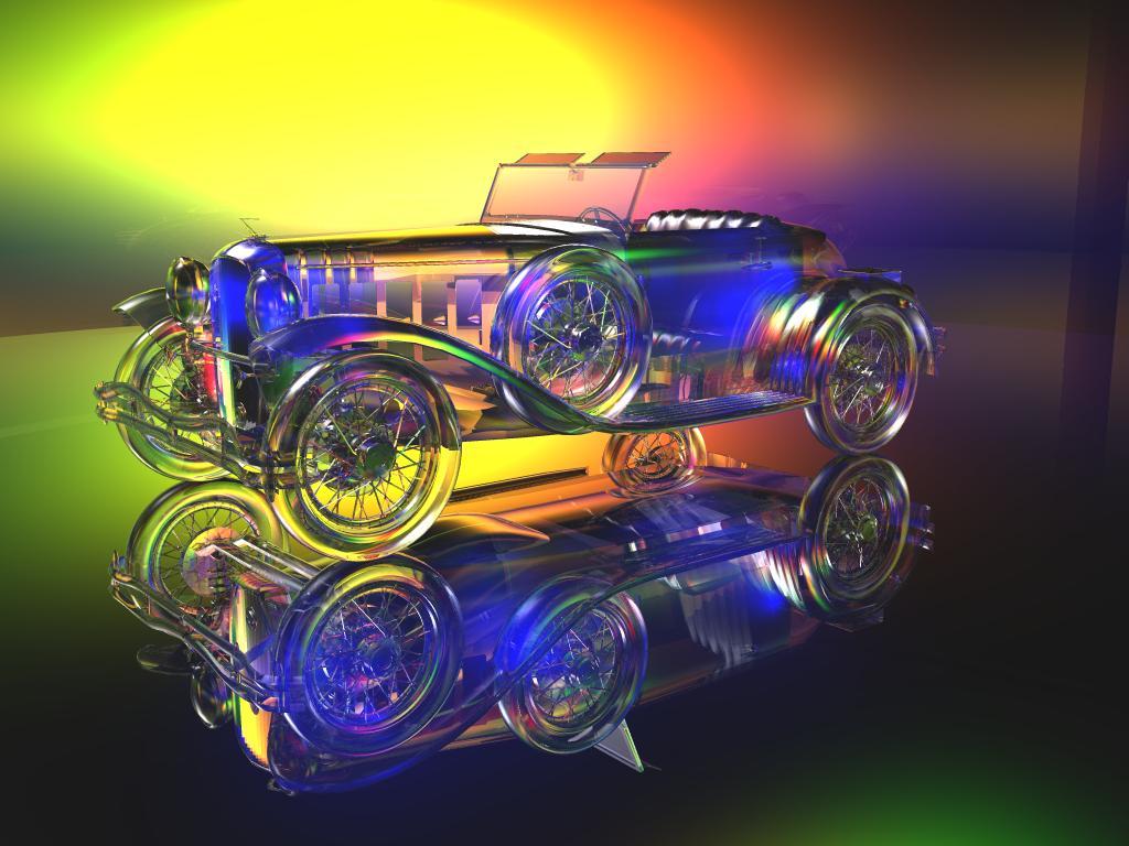 Experiment mit Glas und Licht