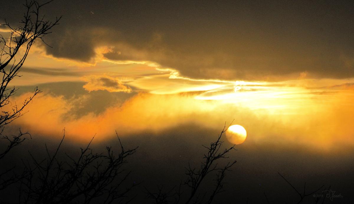 Heutiger Sonnenuntergang