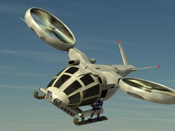 Helicopter im Einsatz