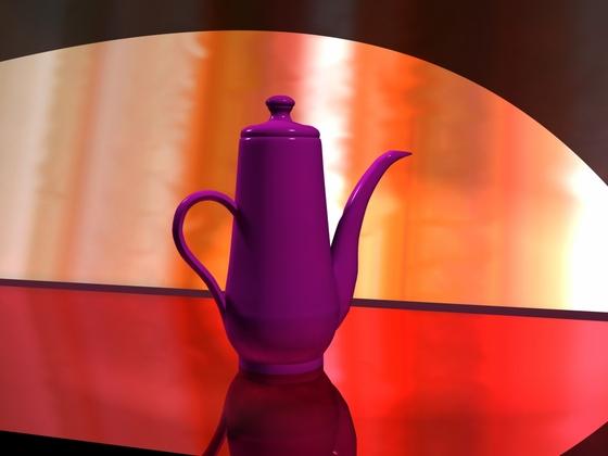 Stilleben Kaffeekanne
