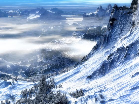 Mountain monk's winter