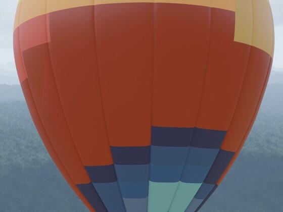 Heißluft-Ballon mit Brenner und Körbchen für 8 Personen