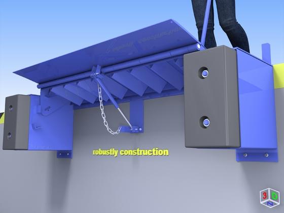 Produktbild: Mini-Überladebühne von unten