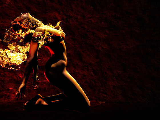 Girl on fire - Hot pixels