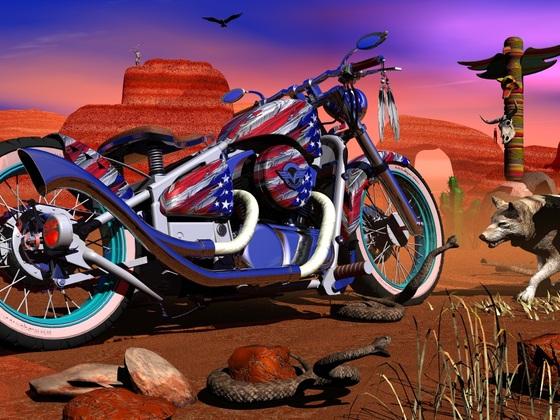 3 D Designstudie...Native American VN 800.