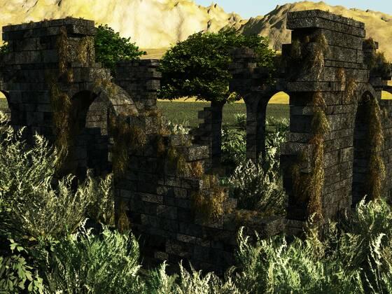 Ruineszene aus Speedmodelling