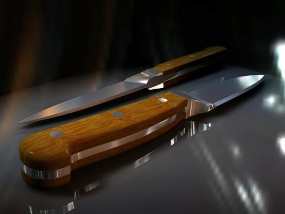 Nur ein Messer!