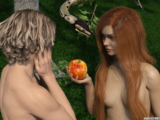 Adam und Eva - Verführung