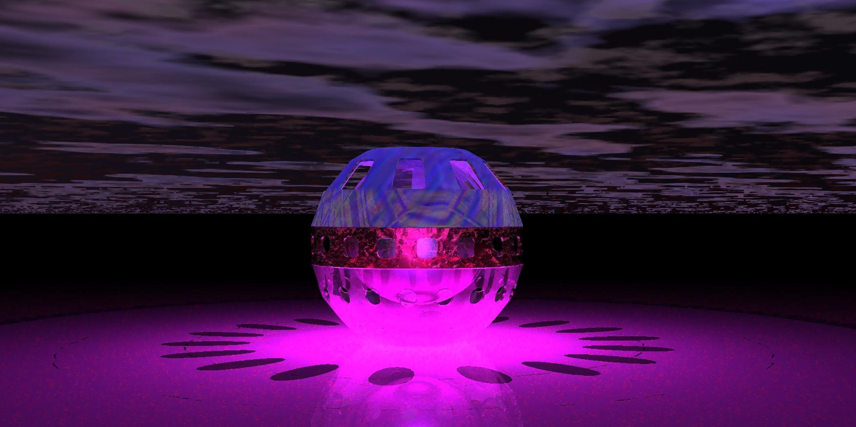Glaskugel mit Licht