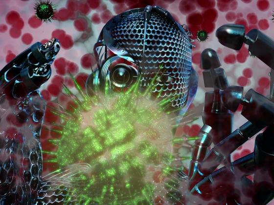 Nanoborg untersucht den COVID-19