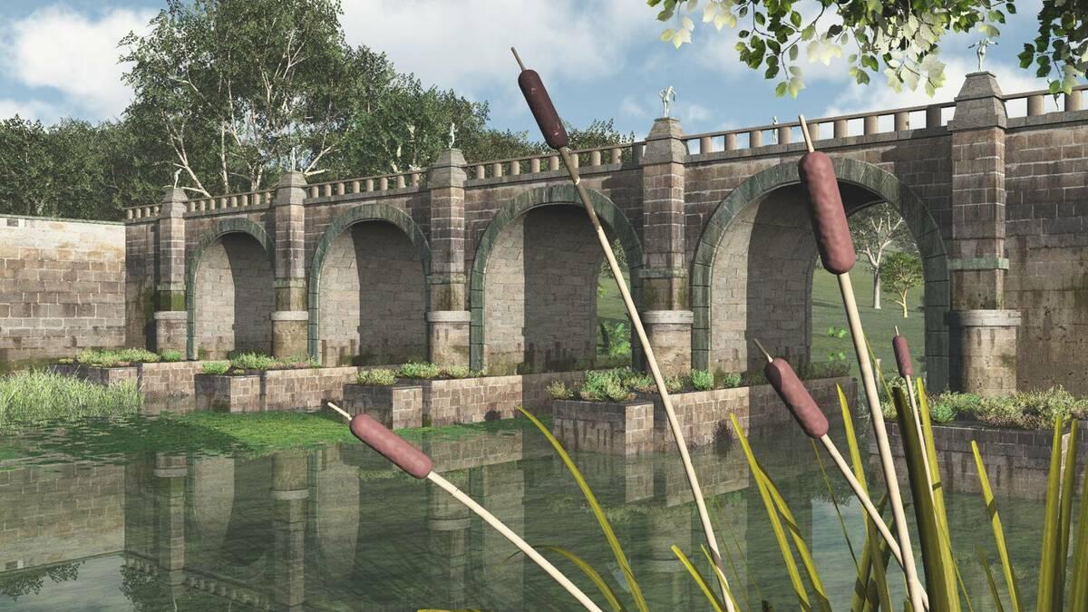 Brücke über dem Rubicon