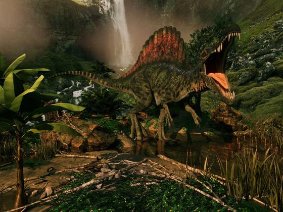 Spinosaurus am Wasser