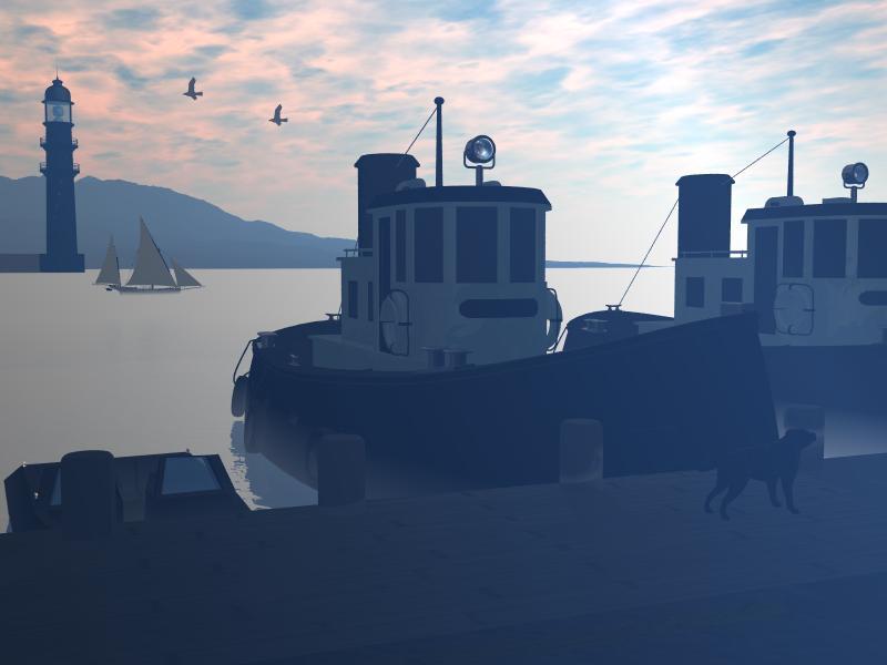 Frühmorgens am Hafen