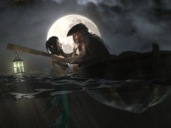 The blue Moon Hour by KomyFlyinc@